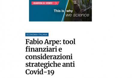 Fabio Arpe, tool finanziari e considerazioni strategiche anti Covid-19