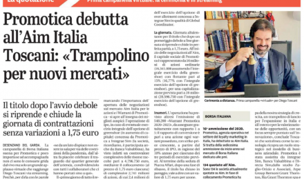 """Promotica debutta all'AIM Italia. Toscani: """"Trampolino per nuovi mercati"""""""